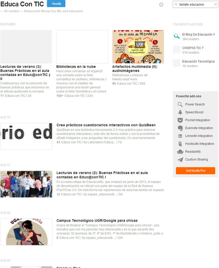 feedly_educacontic