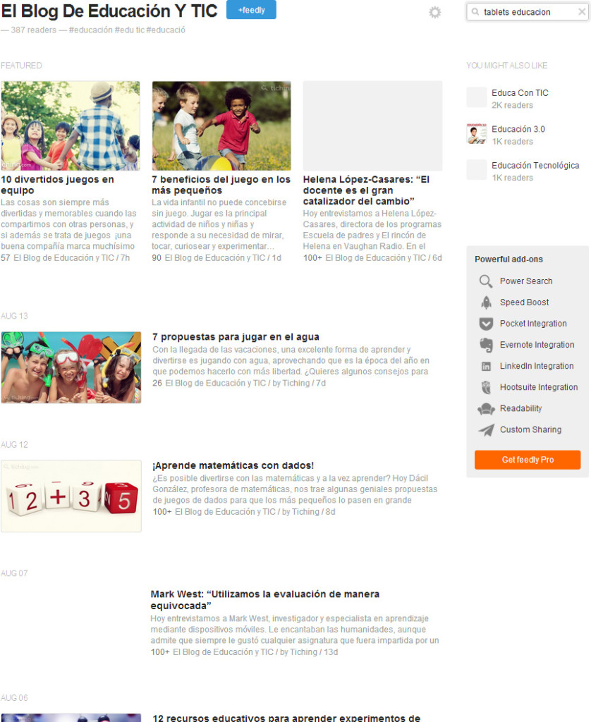 feedly_elblogdeeducacionytic